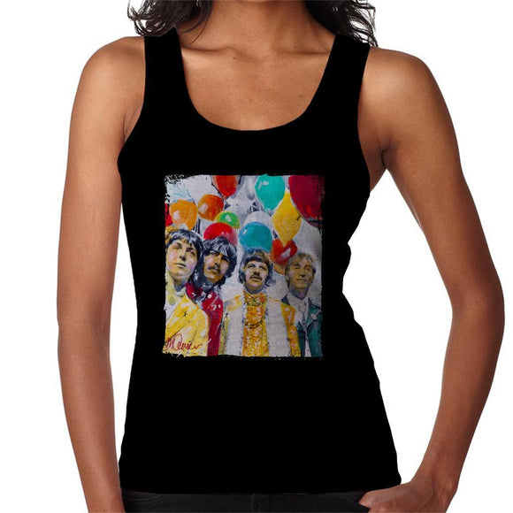 Sidney Maurer Original Portrait Of The Beatles Sgt Peppers 1967 Womens Vest - Womens Vest