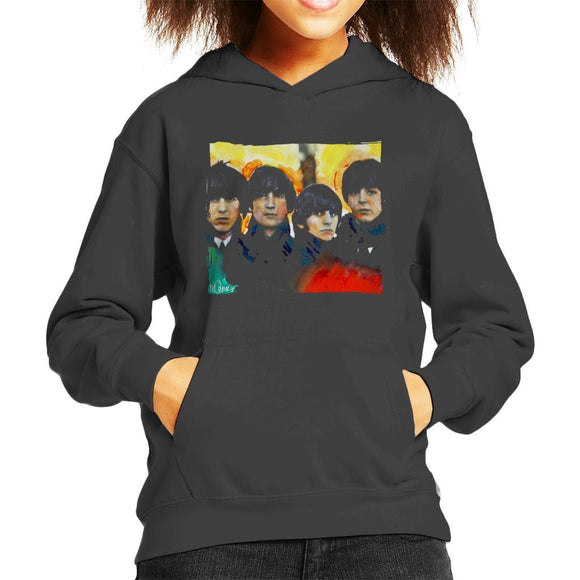 Sidney Maurer Original Portrait Of The Beatles Bowl Cuts Kids Hooded Sweatshirt - Kids Boys Hooded Sweatshirt
