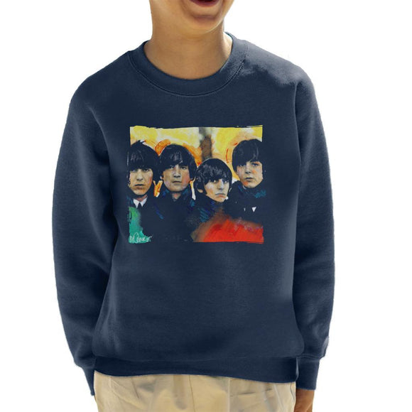 Sidney Maurer Original Portrait Of The Beatles Bowl Cuts Kids Sweatshirt - Kids Boys Sweatshirt