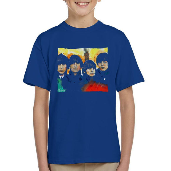 Sidney Maurer Original Portrait Of The Beatles Bowl Cuts Kids T-Shirt - Kids Boys T-Shirt