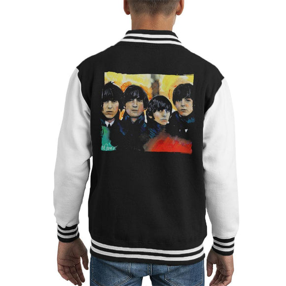 Sidney Maurer Original Portrait Of The Beatles Bowl Cuts Kids Varsity Jacket - Kids Boys Varsity Jacket