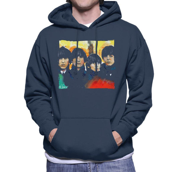 Sidney Maurer Original Portrait Of The Beatles Bowl Cuts Mens Hooded Sweatshirt - Mens Hooded Sweatshirt