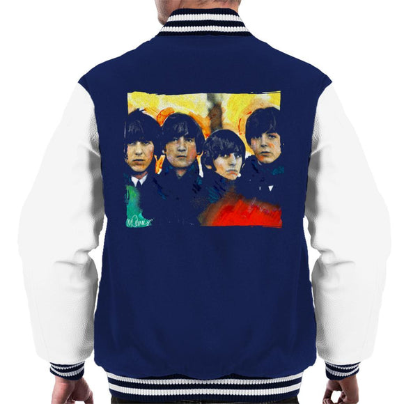 Sidney Maurer Original Portrait Of The Beatles Bowl Cuts Mens Varsity Jacket - Mens Varsity Jacket