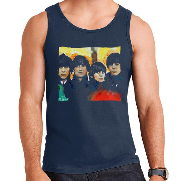 Sidney Maurer Original Portrait Of The Beatles Bowl Cuts Mens Vest - Mens Vest