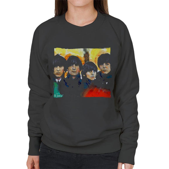 Sidney Maurer Original Portrait Of The Beatles Bowl Cuts Womens Sweatshirt - Womens Sweatshirt