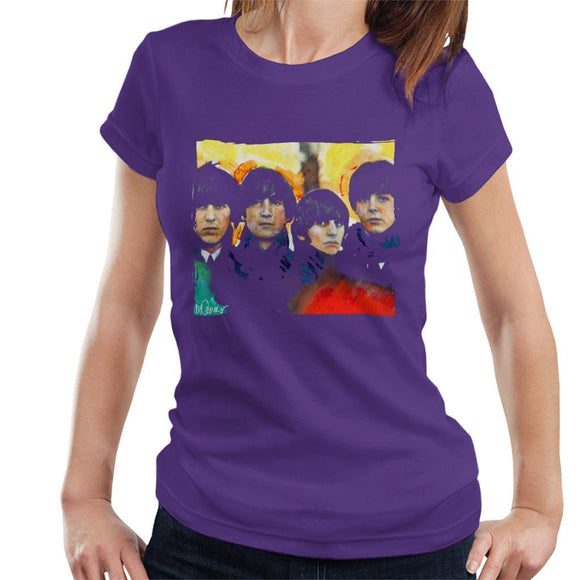 Sidney Maurer Original Portrait Of The Beatles Bowl Cuts Womens T-Shirt - Womens T-Shirt