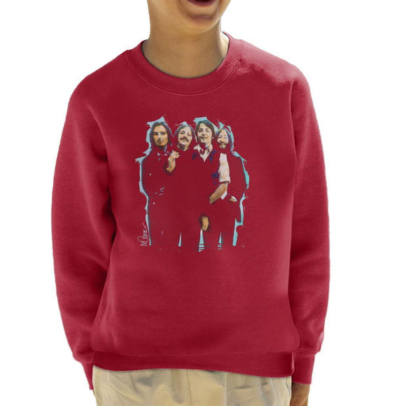 Sidney Maurer Original Portrait Of The Beatles Long Hair Kids Sweatshirt - Kids Boys Sweatshirt