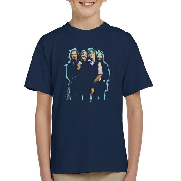 Sidney Maurer Original Portrait Of The Beatles Long Hair Kids T-Shirt - Kids Boys T-Shirt