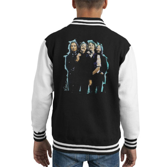 Sidney Maurer Original Portrait Of The Beatles Long Hair Kids Varsity Jacket - Kids Boys Varsity Jacket