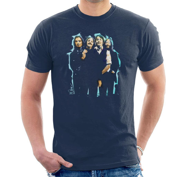 Sidney Maurer Original Portrait Of The Beatles Long Hair Mens T-Shirt - Mens T-Shirt