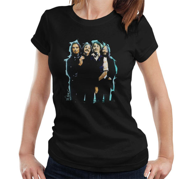 Sidney Maurer Original Portrait Of The Beatles Long Hair Womens T-Shirt - Womens T-Shirt