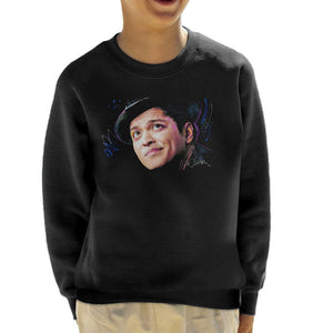 Sidney Maurer Original Portrait Of Bruno Mars Hat Kids Sweatshirt - Kids Boys Sweatshirt