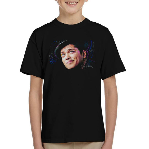 Sidney Maurer Original Portrait Of Bruno Mars Hat Kids T-Shirt - Kids Boys T-Shirt