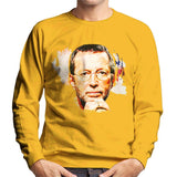 Sidney Maurer Original Portrait Of Eric Clapton Mens Sweatshirt - Small / Gold - Mens Sweatshirt