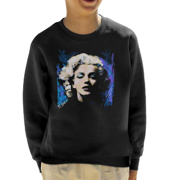 Sidney Maurer Original Portrait Of Marilyn Monroe Short Curls Kids Sweatshirt - Kids Boys Sweatshirt
