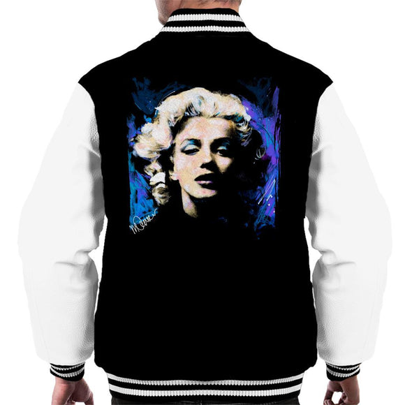 Sidney Maurer Original Portrait Of Marilyn Monroe Short Curls Mens Varsity Jacket - Mens Varsity Jacket