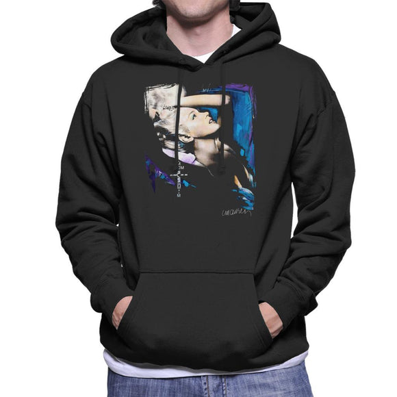 Sidney Maurer Original Portrait Of Marilyn Monroe Pose Mens Hooded Sweatshirt - Mens Hooded Sweatshirt