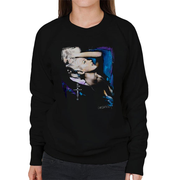 Sidney Maurer Original Portrait Of Marilyn Monroe Pose Womens Sweatshirt - Womens Sweatshirt