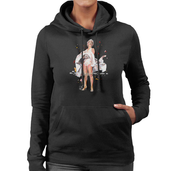 Sidney Maurer Original Portrait Of Marilyn Monroe Skirt Blowing Women's Hooded Sweatshirt