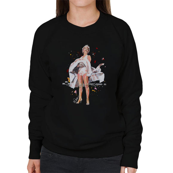 Sidney Maurer Original Portrait Of Marilyn Monroe Skirt Blowing Women's Sweatshirt