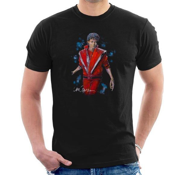 Sidney Maurer Original Portrait Of Michael Jackson Thriller Mens T-Shirt - Mens T-Shirt