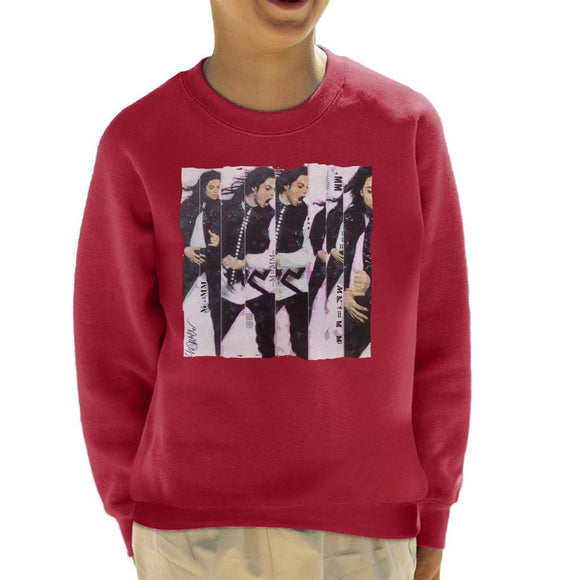 Sidney Maurer Original Portrait Of Michael Jackson 90s Kids Sweatshirt - Kids Boys Sweatshirt