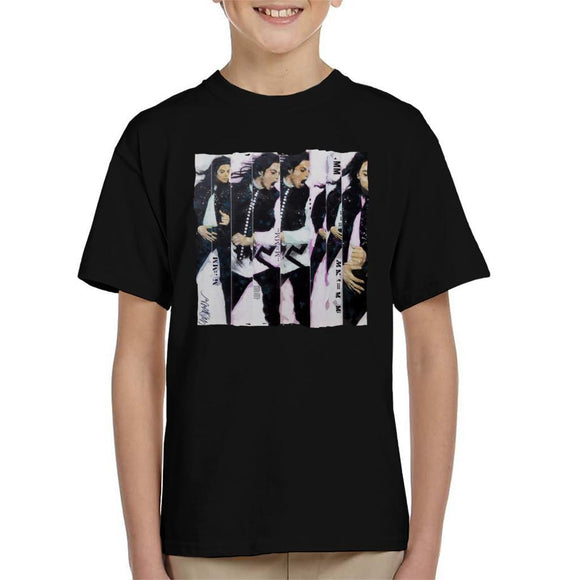 Sidney Maurer Original Portrait Of Michael Jackson 90s Kids T-Shirt - Kids Boys T-Shirt