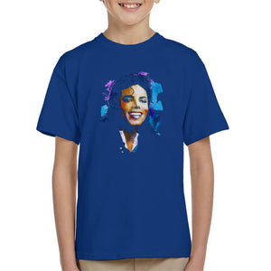 Sidney Maurer Original Portrait Of Michael Jackson Smile Kids T-Shirt - Kids Boys T-Shirt
