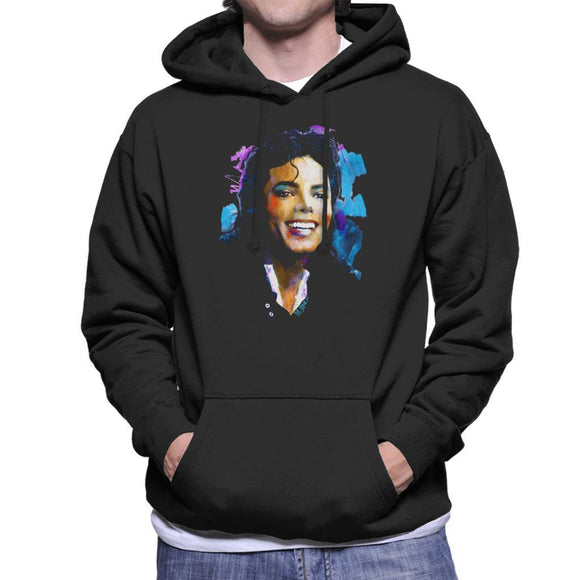 Sidney Maurer Original Portrait Of Michael Jackson Smile Mens Hooded Sweatshirt - Mens Hooded Sweatshirt