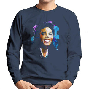 Sidney Maurer Original Portrait Of Michael Jackson Smile Mens Sweatshirt - Mens Sweatshirt