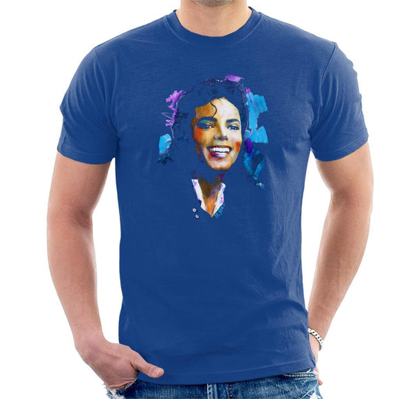 Sidney Maurer Original Portrait Of Michael Jackson Smile Mens T-Shirt - Mens T-Shirt