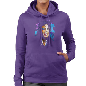 Sidney Maurer Original Portrait Of Michael Jackson Smile Womens Hooded Sweatshirt - Womens Hooded Sweatshirt