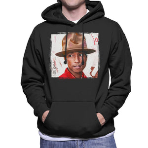 Sidney Maurer Original Portrait Of Pharrel Williams The Hat Men's Hooded Sweatshirt