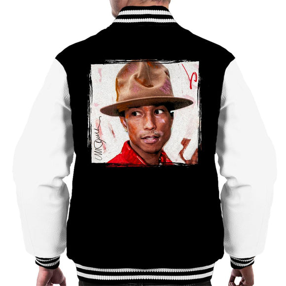 Sidney Maurer Original Portrait Of Pharrel Williams The Hat Men's Varsity Jacket