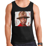 Sidney Maurer Original Portrait Of Pharrel Williams The Hat Men's Vest