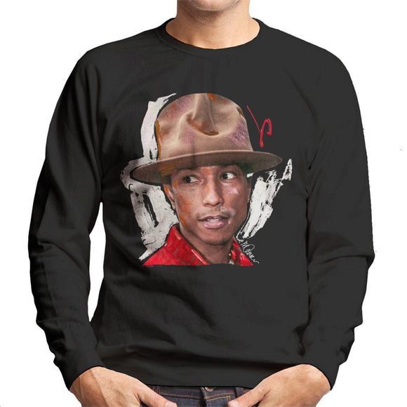 Sidney Maurer Original Portrait Of Pharrel Williams Hat Mens Sweatshirt - Mens Sweatshirt