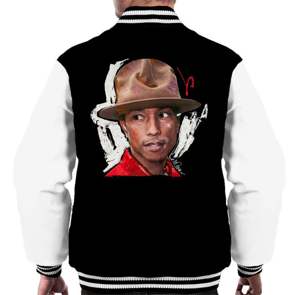 Sidney Maurer Original Portrait Of Pharrel Williams Hat Mens Varsity Jacket - Mens Varsity Jacket