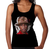 Sidney Maurer Original Portrait Of Pharrel Williams Hat Womens Vest - Womens Vest