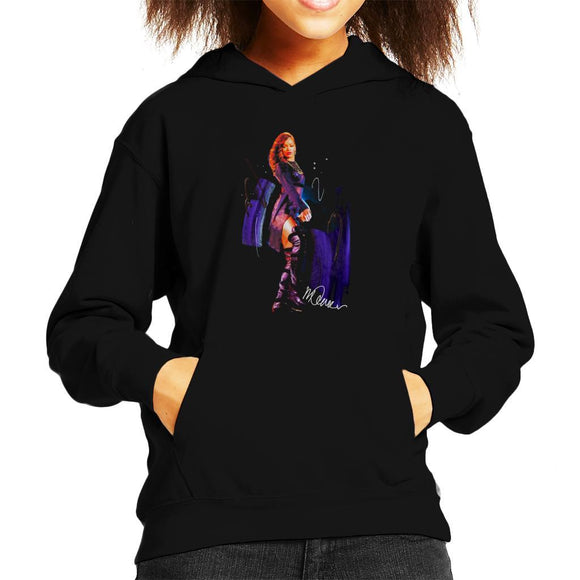 Sidney Maurer Original Portrait Of Rihanna Long Boots Kids Hooded Sweatshirt - Kids Boys Hooded Sweatshirt