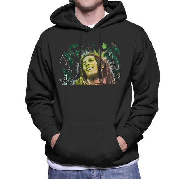 Sidney Maurer Original Portrait Of Bob Marley Smile Mens Hooded Sweatshirt - Mens Hooded Sweatshirt