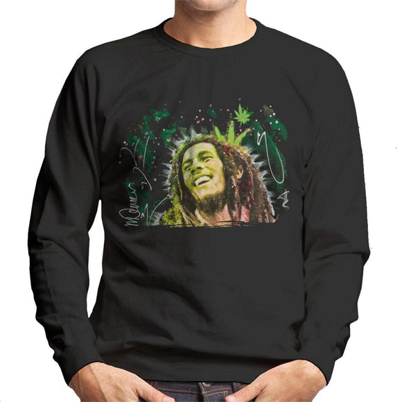 Sidney Maurer Original Portrait Of Bob Marley Smile Mens Sweatshirt - Mens Sweatshirt