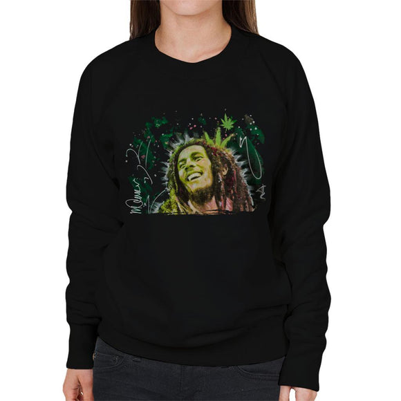 Sidney Maurer Original Portrait Of Bob Marley Smile Womens Sweatshirt - Womens Sweatshirt