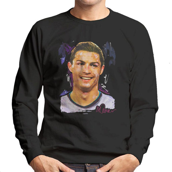 Sidney Maurer Original Portrait Of Cristiano Ronaldo Closeup Mens Sweatshirt - Mens Sweatshirt