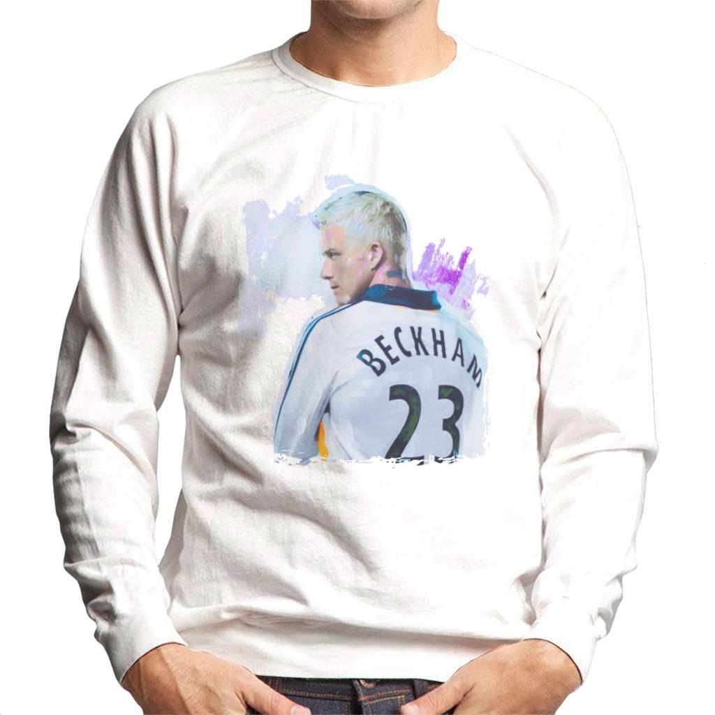 d7d8e25d1 ... Sidney Maurer Original Portrait Of David Beckham Real Madrid Kit Mens  Sweatshirt - Mens Sweatshirt ...