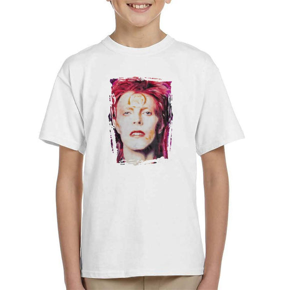 Sidney Maurer Original Portrait Of David Bowie Red Hair Kids T-Shirt - Kids Boys T-Shirt