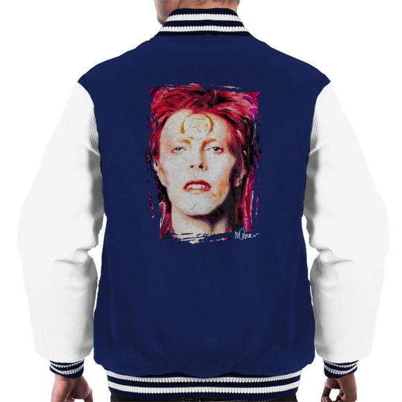Sidney Maurer Original Portrait Of David Bowie Red Hair Mens Varsity Jacket - Mens Varsity Jacket