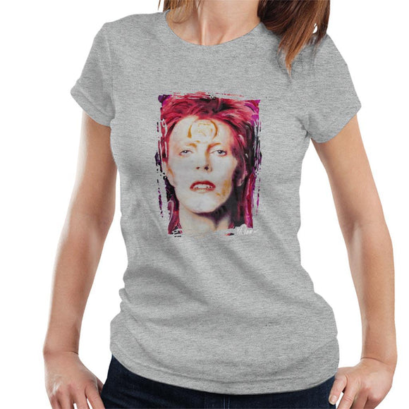 Sidney Maurer Original Portrait Of David Bowie Red Hair Womens T-Shirt - Womens T-Shirt