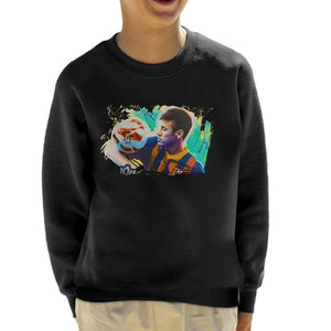 Sidney Maurer Original Portrait Of Neymar Barcelona Kids Sweatshirt - Kids Boys Sweatshirt