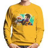 Sidney Maurer Original Portrait Of Neymar Barcelona Mens Sweatshirt - Small / Gold - Mens Sweatshirt
