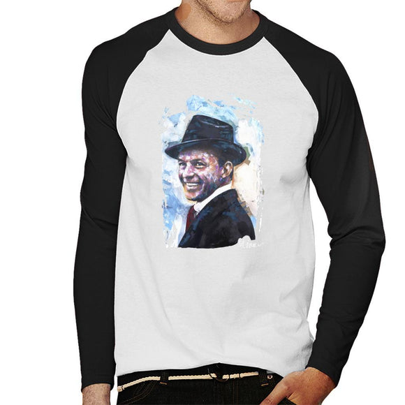 Sidney Maurer Original Portrait Of Frank Sinatra Hat Mens Baseball Long Sleeved T-Shirt - Mens Baseball Long Sleeved T-Shirt